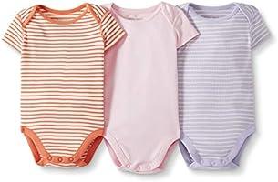 Moon and Back by Hanna Andersson - Body per neonato a maniche corte in cotone biologico, confezione da 3