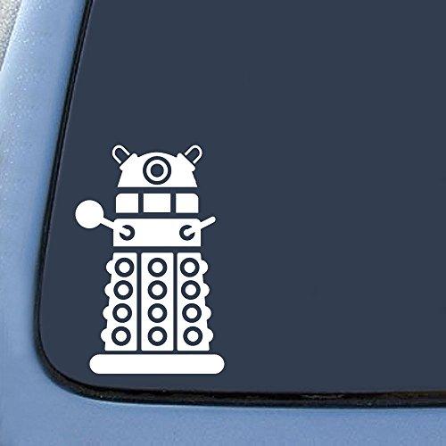 KEEN Dalek Sticker Decal Notebook Car Laptop 4' (White) Keen151