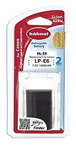Hähnel HL-E6 7,2V 1650mAh Li-Ionen Ersatzakku Typ Canon LP-E6 für EOS 5D Mark II, EOS 5D Mark III, EOS 6D, EOS 7D, EOS 60D, EOS 70D (mit Info-Chip)