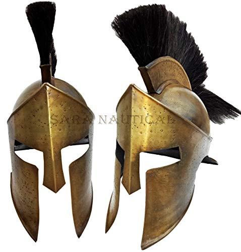 Sara Nautisches 300Movie King Leonidas Spartan Helm Griechischer Krieger - Spartan Krieger Kostüm
