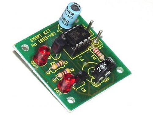 555-timer-schaltungen (LED Wechselblinker 9V - 12V NE 555 Timer IC Tester B1089 --! ELEKTRONIK BAUSATZ !--)
