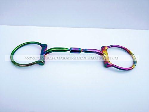 HITCH SADDLERY '12,5 cm 5.0 Nuovo anatomica Rainbow Rainbow Rainbow Arcobaleno briglia doppia rossoto gebisse Bit Anatomic | marche  | nuovo venuto  | Numeroso Nella Varietà  | Nuovo mercato  c26468