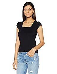 United Colors of Benetton Womens Cotton Pullover (17A1092D9032I_Black_M)