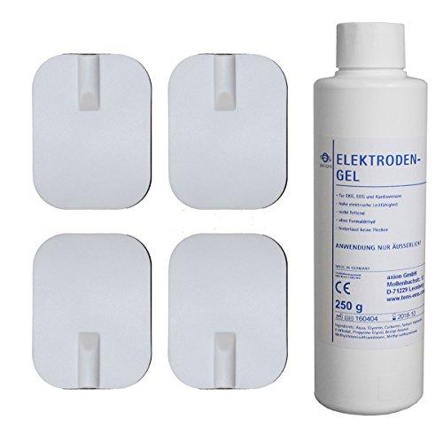 dauer-elektroden-45x60mm-kontaktgel-250g-zur-sofortigen-nutzung-fur-tens-ems-gerate-mit-2mm-steckans