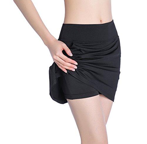 EAST HONG Women's Pocket Golf Skorts Workout Running Tennis Skirt with Inner Shorts
