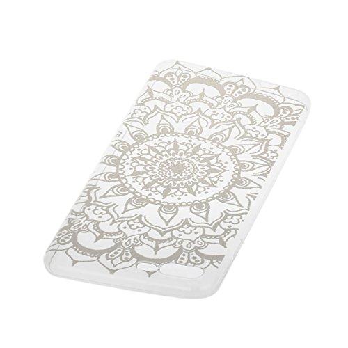 Pour iPhone 7 Plus / Pro Coque,Ecoway Housse étui en TPU Silicone Shell Housse Coque étui Case Cover Cuir Etui Housse de Protection Coque Étui –Epée fleur Octopus fleur