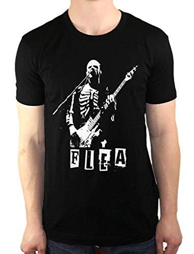 Mabby Herren Floh Red Hot Chili Peppers Skelett Kostüm Bass Fashion T-Shirt (Der Floh Kostüm)