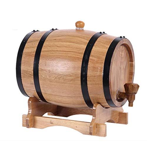 CHENG Eichenfass, Whisky Schnaps Wein Holzfass, Lagerung Oder Alterung Wein, Anzug für Zuhause, Bar, Party und Bankett (3 L)