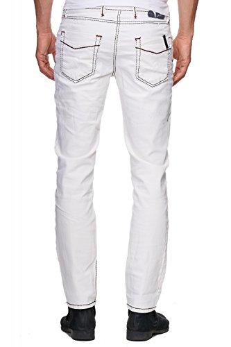 12038 RUSTY NEAL Grau Jeans Grau Hose Herren Slim Fit NEU Weiß