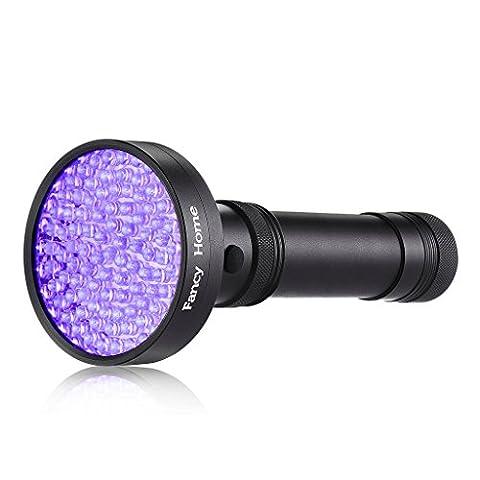 Fancy Home 100led lumière UV Lampe torche Blacklight lampe de poche pour animal domestique d'urine taches détecteur de scorpion Hunter avec gratuit Chien Collier LED Témoin lumineux