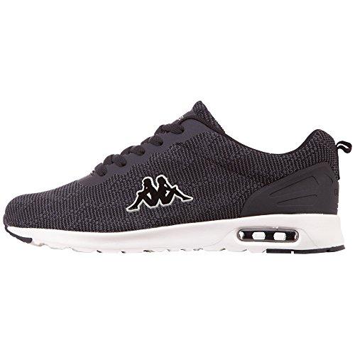Kappa Damen Classy KNT Sneaker, Schwarz (Black/Offwhite 1143), 38 EU