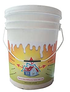 Starshield - (10 Ltrs) Solar Reflective & Insulating High Albedo Heat Resistant Cool Paint Coating (Highest Sri Value-130 In India)