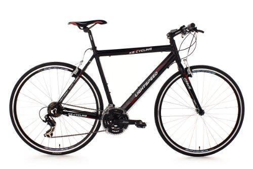 KS Cycling Fahrrad Fitnessbike Alu Lightspeed RH 56 cm, Schwarz, 28, 201B