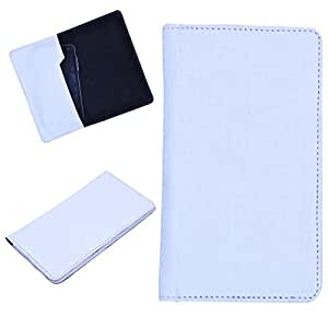 DCR Pu Leather case cover for XOLO Q1000 OPUS (white)