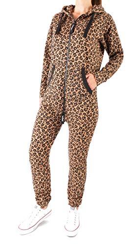Finchgirl 34F2 FG18R Damen Jumpsuit Overall Einteiler Jogging Leopard ()