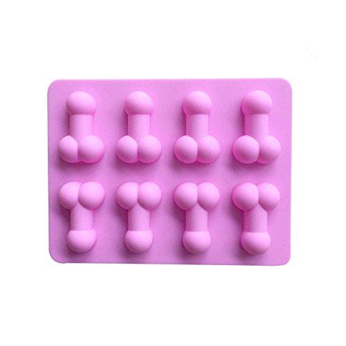 Lavendei Silikon Backformen - Backen und Basteln 3D Mould für Muffin Schokolade Kuchen Pudding Gelee Mini-Cupcake Seife Eiswürfel (Penis)