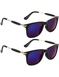 Criba Anti-Reflective Rectangular Unisex Sunglasses - (100|50|White Color)