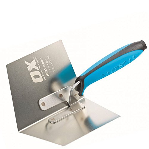 ox P013001 102 x 127 mm Pro Dry Wall Internal Corner Trowel - Blue Test