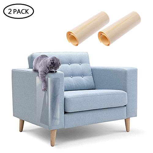 AOLVO Katzenmöbel-Schutz, transparent, hochwertig, Flexibler Vinyl-Schutz für Hunde und Katzen, Krallenschutz mit Pins zum Schutz Ihrer gepolsterten Möbel, verhindert Kratzer, Katzen und Möbelschutz -