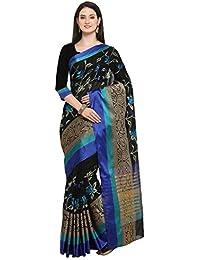 Pisara Women's Banarasi Silk Party Wear Saree With Blouse Piece,Black