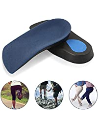 bd6aa95f64 3/4 Length Orthotic Insole, leegoal Flat Feet Arch Support Shoe Inserts for  Over-Pronation, Weak and Fallen Arches Arches, Plantar…