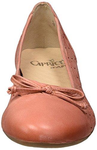 Caprice Damen 22114 Geschlossene Ballerinas Orange (ORANGE NUBUC)