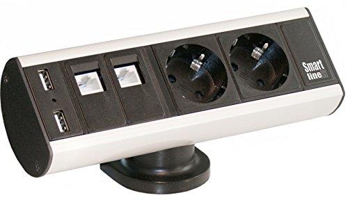 Pdu-power Distribution Unit (Kondator 935-D2DU 2AC Outlet (S) Aluminium, Black Power Distribution Unit (PDU)-Power Distribution Units (PDUs) (Basic, Aluminium, Black, 16A, 2AC Outlet (S), Type F, Type F))