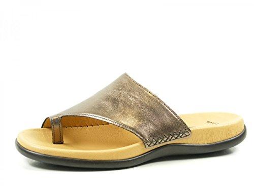Gabor 63-700-61 Schuhe Damen Pantoletten Dianetten Zehentrenner, Schuhgröße:42;Farbe:Silber