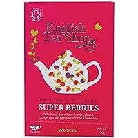 English Tea Shop - Super Berries - Tisana Orgánica de Hibiscus con Fresa, Arándanos y Frambuesa - 40 g