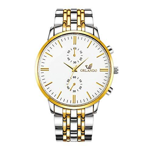 Knowin Uhren Einzigartige Persönlichkeit Männer Mode Legierung Band Runde Analoge Quarz-Armbanduhr Armband Armreif Armbanduhren Stahlgürteluhr Geschäftsuhr der Herren Uhr -
