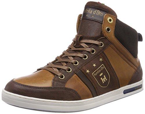 Pantofola d'Oro MONDOVI Uomo Mid Sneaker a Collo Alto Braun (Tortoise Shell .Jcu) 44 EU