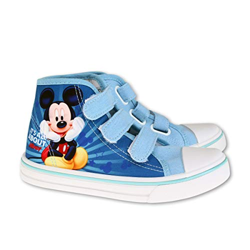 Mickey Mouse - Zapatillas de Deporte de Sintético Niños, Azul (Azul)