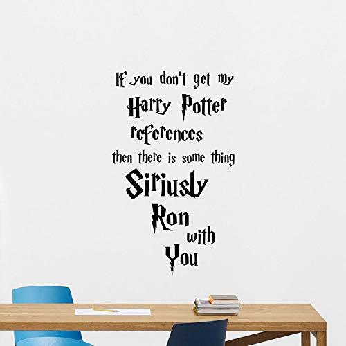lyclff Harry Potter Zitat Wandtattoo Movie Poster Vinyl Aufkleber Schlafzimmer Dekor Kunst Für Kinder Romm Abnehmbare Kinderzimmer Wand Decor 70 * 42 cm (Stamm Harry Potter)
