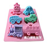 DIY 6 Holes Train Shape DIY Soap Mold Handmade Chocolate Biscuit Cake Silicone Mold by Clest F&H