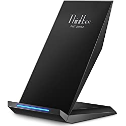 Fast Wireless Charger,Thinkbee 2 Coils QI Wireless Charging Phone Stand for Apple iPhone X/ 8/ 8 Plus,Samsung Galaxy S9 S9 Plus S8 Note 8, S8 Plus, S7, S7 Edge Note 5 S6 Edge Plus