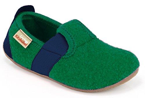 Living Kitzbühel T-Modell Unifarben, Chaussons mixte enfant Verde (Grün (465 verde))