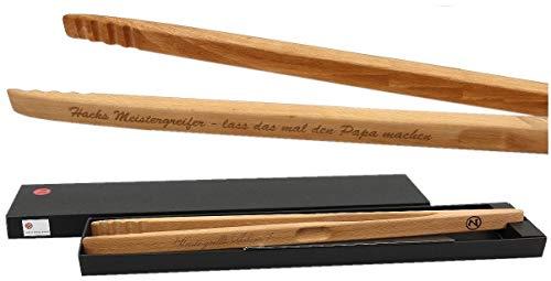 Ludomax Grillzange Zetzsche 60 cm lang mit Geschenk Verpackung und individueller Gravur