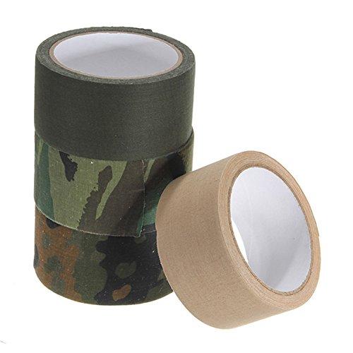 Produit Neuf 50 mm x 10 m extérieur Sports Pêche Camouflage Tissu Coton Isolation renforcée Ruban adhésif Outil de Rouleau de Papier