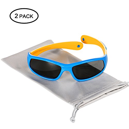 Hifot Baby Boy Girl Sunglasses, UV Protection Polarized Toddler Sunglasses, Rubble Flexible Children Kids Sunglasses - Age 6 Months to 3 Years