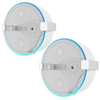 Wandhalterung Echo Dot Halterung Ständer für Amazon All-New Echo Dot (2nd Generation), 2 Stück (weiß)