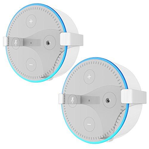 Solide Metall Wandhalterung Ständer Halter Ständer Halterung Echo Dot 2. Generation (Weiß 2)