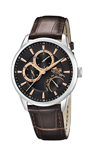 14d8f5c93af8 Lotus Watches Reloj Multiesfera para Hombre de Cuarzo con Correa en Cuero  15974 9