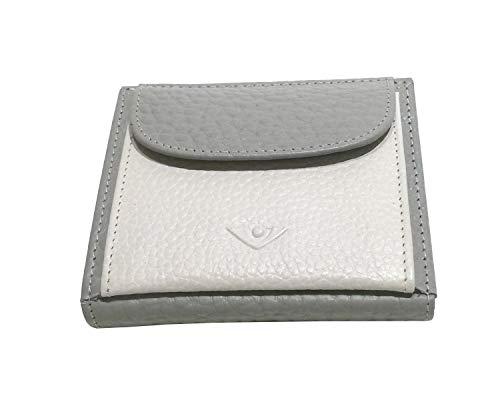 Voi Bestseller Börse 70575 Portemonnaie Leder Damen klein: Farbe: Platin/weiss