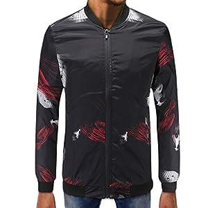 empresa mensajeria barata: Gusspower Hombres Abrigo Manga Larga Estampado Chaqueta Capa Suéter Collar de pi...