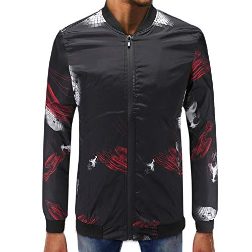 TWBB Herren Sweatshirt Hemd Mit Reißverschluss Hundekopf Muster Slim-Fit Freizeit Shirt Langarm Oberteile Männer Tops T-Shirt