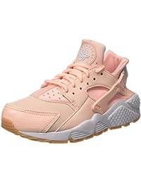differently b8dae 872b3 Nike Damen Air Huarache Run Trainer Pink (Sunset TintWhiteGum Yellow)