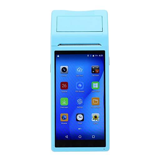 ASHATA Bluetooth-Belegdrucker, tragbarer, drahtloser WiFi-Thermodrucker (58 mm), 8 GB Nand-Flash-Bluetooth-Drucker, Mini-Handheld-Hochgeschwindigkeits-POS-Drucker für Android 6.0 Quad-Core-CPU(Blue) (Cpu Quad)