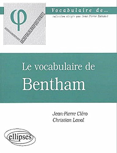 Le vocabulaire de Bentham