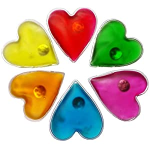 Filfia Handwärmer Herzform, 6 Taschenwärmer für Warme Hände im Winter, Taschenkissen, Wiederverwendbare Wärmekissen
