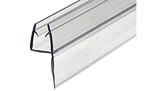100 cm GedoTec Glastürdichtung Duschtürdichtung Lippendichtung Duschdichtung für Duschkabinen | PVC Transparent | für Glasdicke 8 - 10 mm